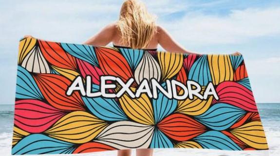 πετσέτες θαλάσσης με όνομα