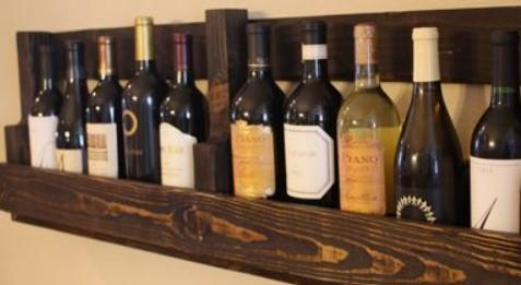 θήκη κρασιών ξύλινες παλέτες