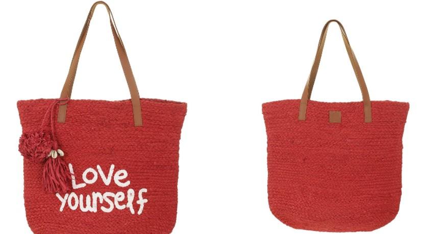 τσάντα για την παραλία κόκκινη