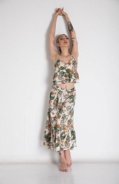 μάξι φούστα εμπριμέ ρούχα Paranoia καλοκαίρι 2021