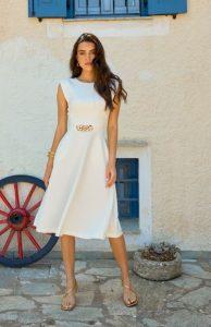 ασπρο φορεμα αλυσιδα