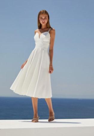 άσπρο φόρεμα μίντι