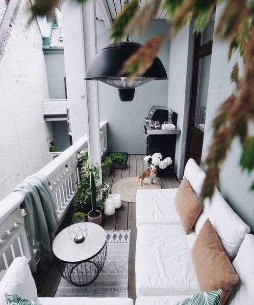 ασπρόμαυρο μπαλκόνι