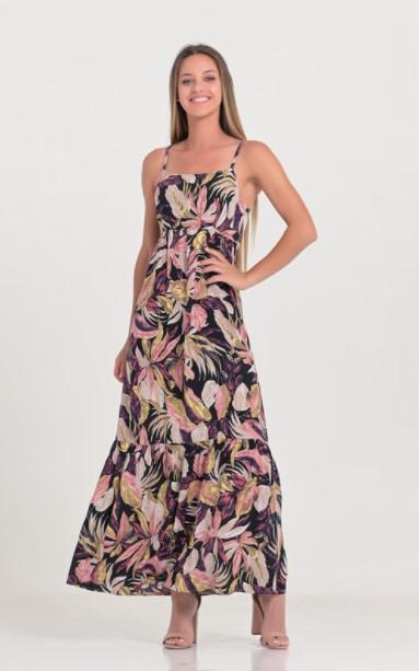 εμπριμέ φόρεμα μοβ ρούχα Paranoia καλοκαίρι 2021