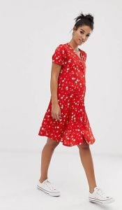 φλοράλ φόρεμα εγκυμοσύνης2