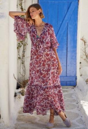 φλοράλ φόρεμα μακρύ BSB καλοκαίρι 2021