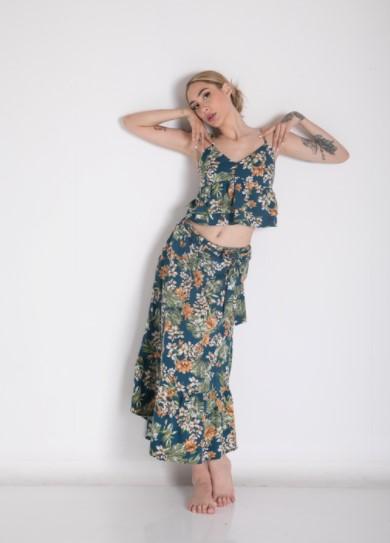 φλοράλ μακριά φούστα