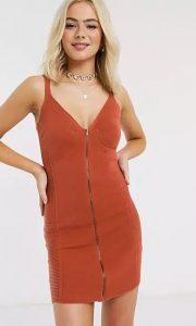 φόρεμα κορσέ φερμουάρ