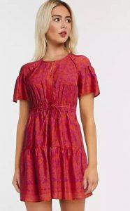 φόρεμα με μωβ