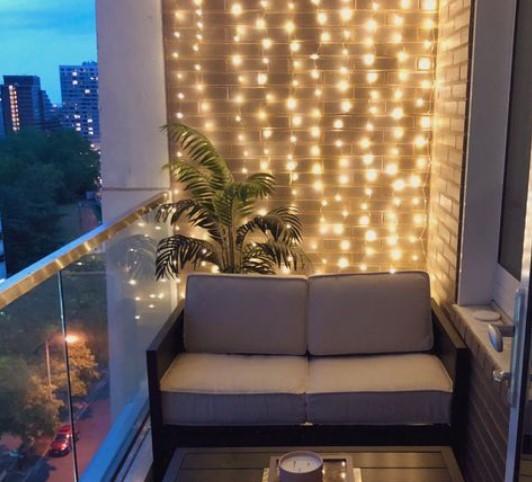 φωτισμός μπαλκονιού φωτάκια τοίχου
