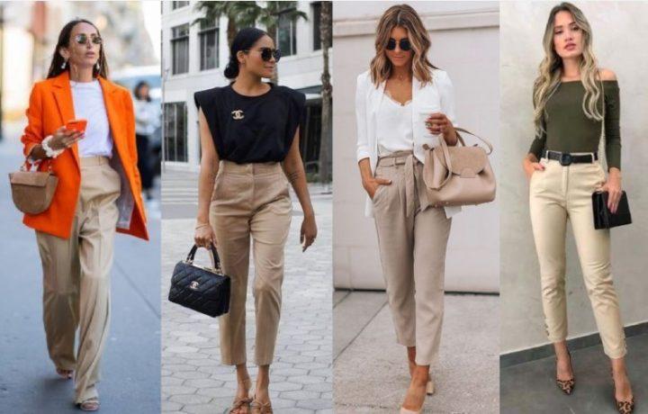 7 Τρόποι να φορέσεις το μπεζ παντελόνι γραφείου σου!