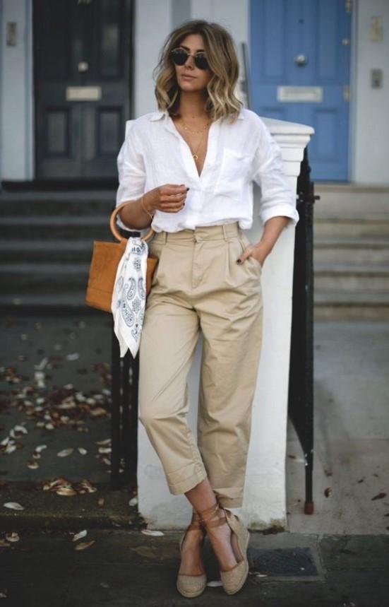 γυναικείο ντύσιμο με πουκάμισο
