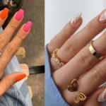ιδέες για νύχια σε δύο χρώματα