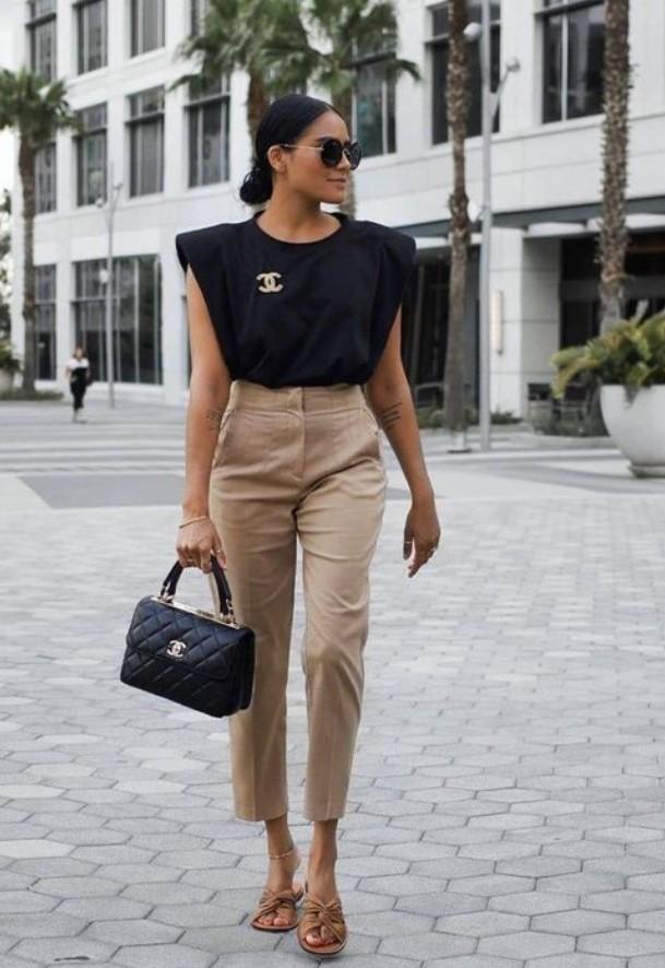 καλοκαιρινό ντύσιμο με παντελόνι