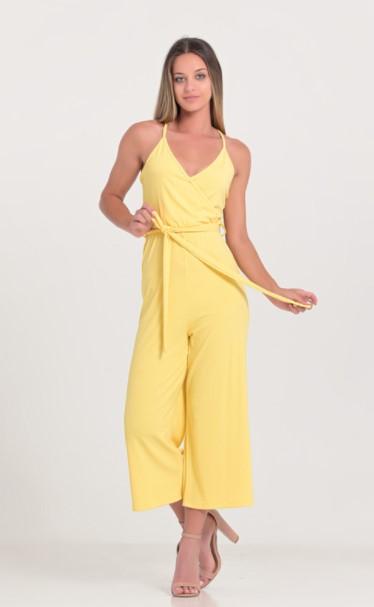 κίτρινη ολόσωμη φόρμα