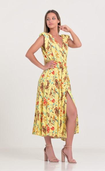 κίτρινο φόρεμα σκίσιμο ρούχα Paranoia καλοκαίρι 2021