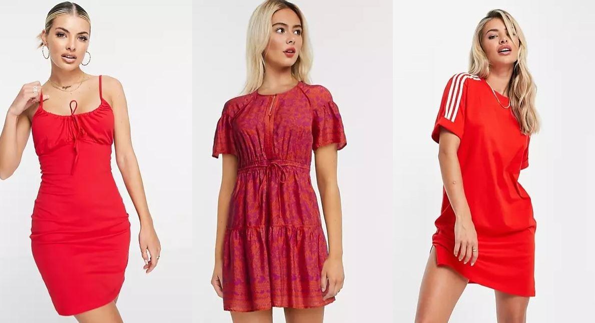κόκκινα φορέματα από το ASOS