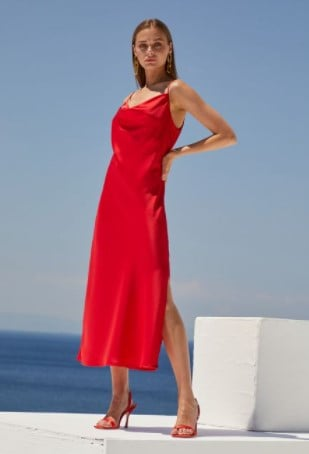 κόκκινο slip dress