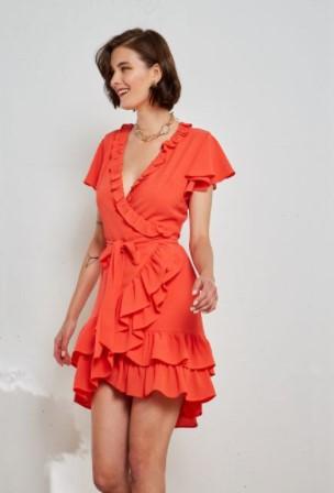 κρουαζέ κόκκινο φόρεμα