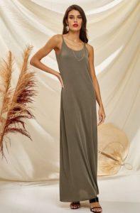 λαδί φόρεμα