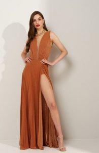 λουρεξ πορτοκαλι φόρεμα