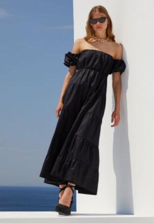 μαύρο μάξι φόρεμα BSB καλοκαίρι 2021
