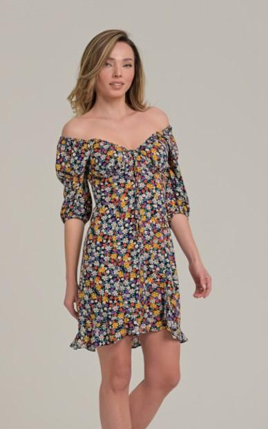 μάξι φόρεμα φλοράλ ρούχα Paranoia καλοκαίρι 2021