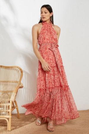 μάξι φόρεμα λαχούρ BSB καλοκαίρι 2021