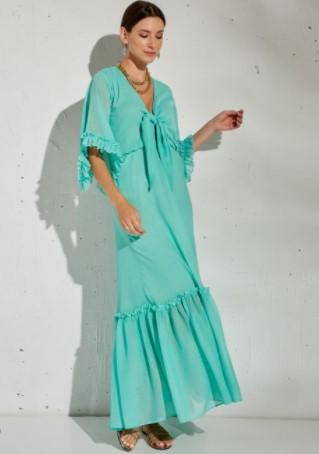 μάξι φόρεμα πράσινο