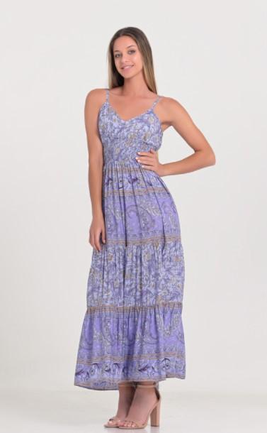 μάξι φόρεμα μοβ