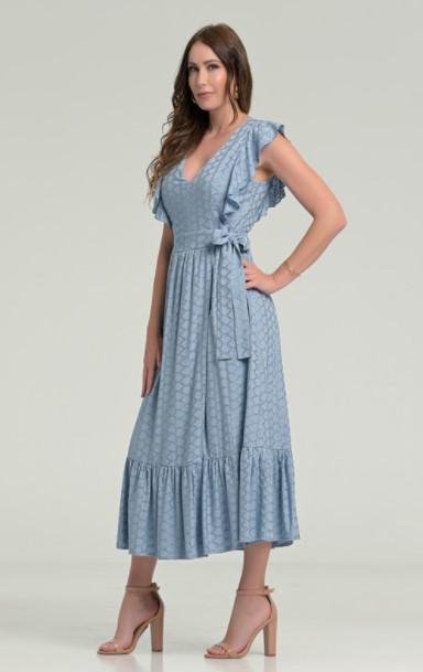 μίντι γαλάζιο φόρεμα ρούχα Paranoia καλοκαίρι 2021