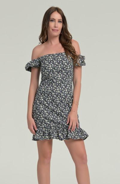 μίνι φόρεμα λουλουδάκια