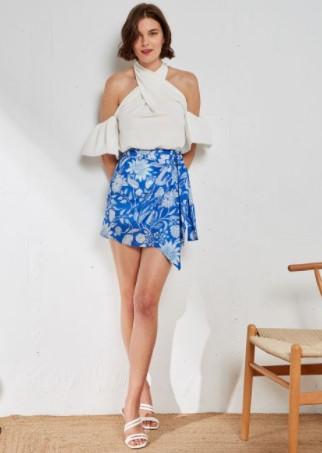 μίνι φούστα μπλε