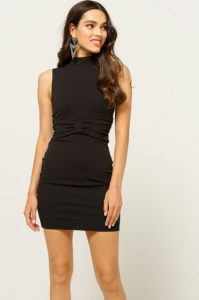 μινι μαυρο φόρεμα φιόγκος