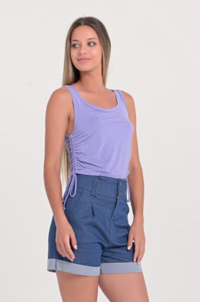 μοβ απλή μπλούζα
