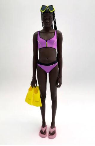 μοβ μπικίνι μαγιό Zara 2021