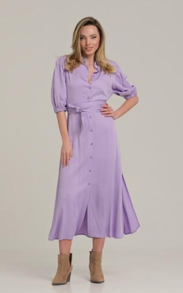 μοβ φόρεμα μίντι ρούχα Paranoia καλοκαίρι 2021