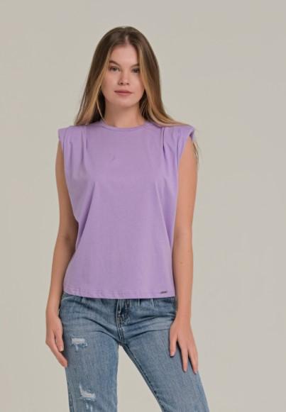 μοβ μπλούζα βάτες