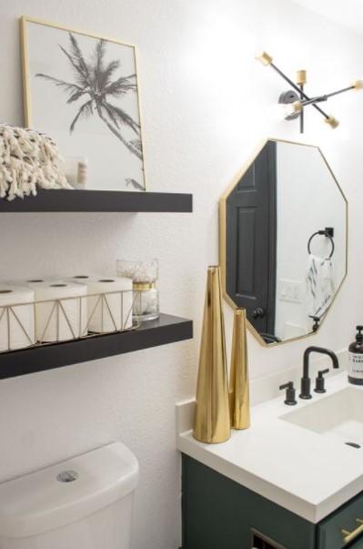 μπάνιο ράφια πίνακας στιλάτα διακοσμητικά μπάνιου