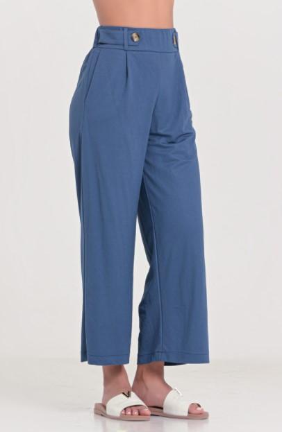 μπλε ψηλόμεσο παντελόνι