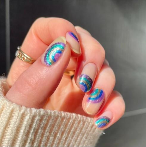 καλοκαιρινά νύχια ουράνιο τόξο