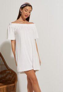 πετσετέ λέυκό φόρεμα