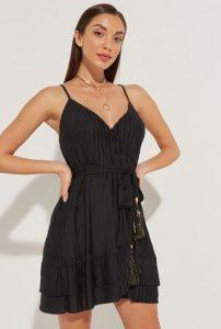 πλισε μαυρο φόρεμα