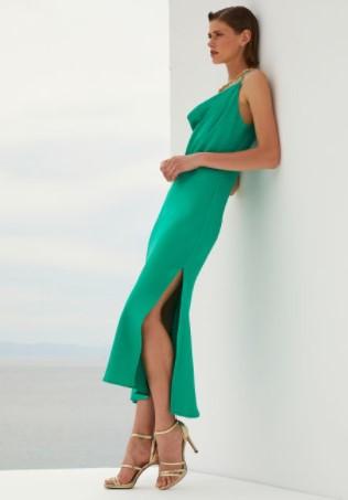 πράσινο slip dress