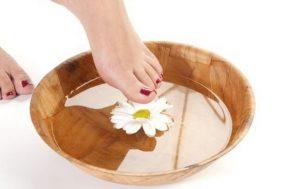 χαμομήλι φροντίδα ποδιών