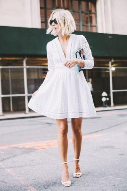 broderie φόρεμα πέδιλα