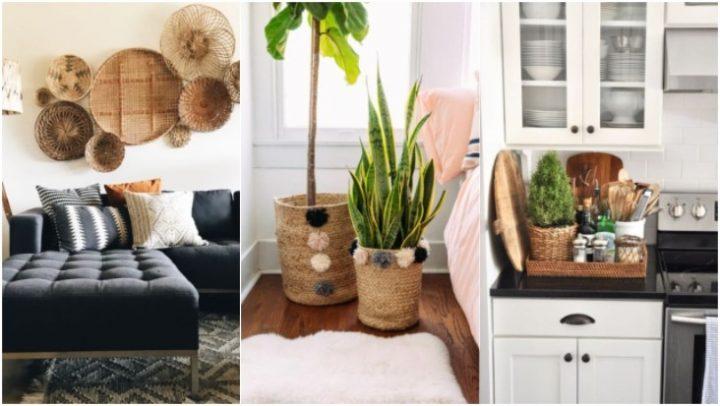 5 Κομψοί τρόποι να διακοσμήσεις το σπίτι με καλάθια!
