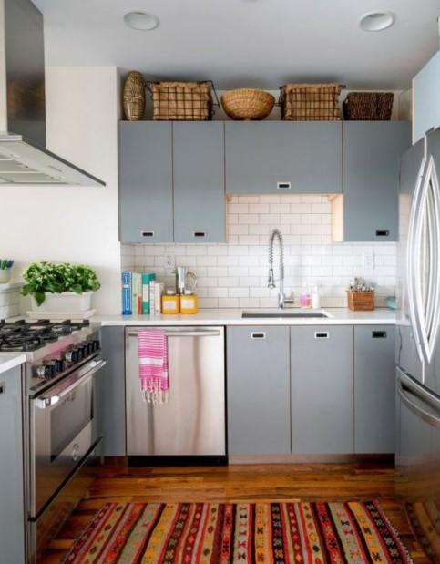 κουζίνα καλάθια ντουλάπια διακοσμήσεις καλάθια