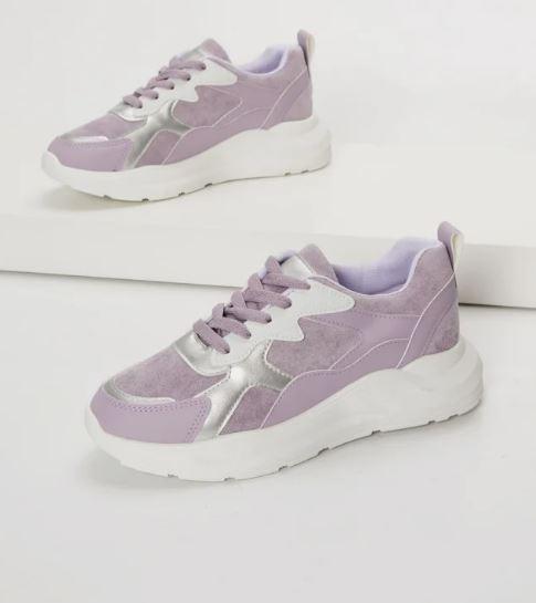 λιλά σουέντ sneakers