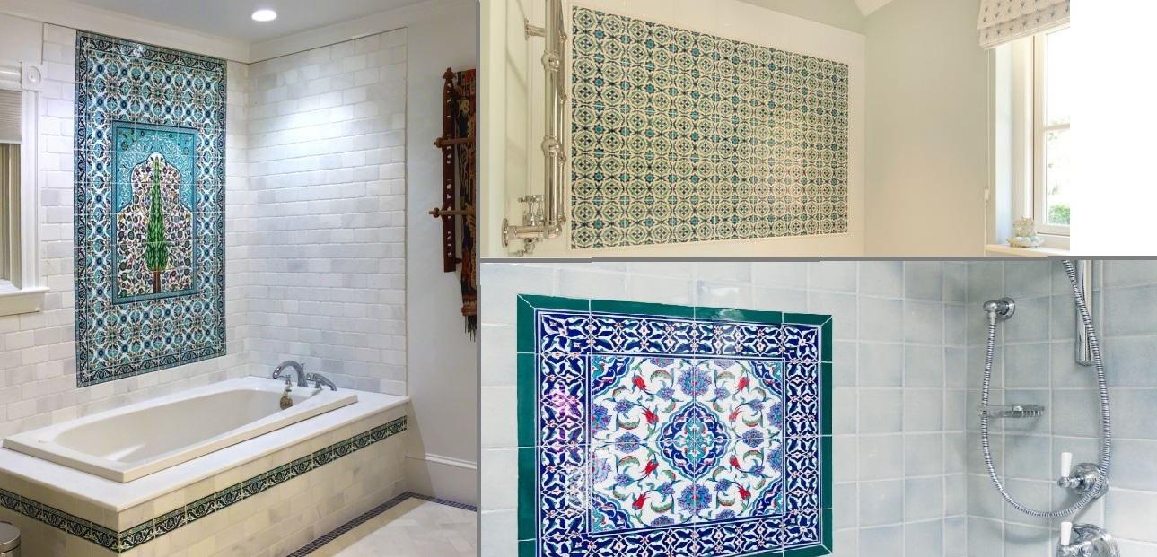 πλακάκια με μοτίβα στον τοίχο